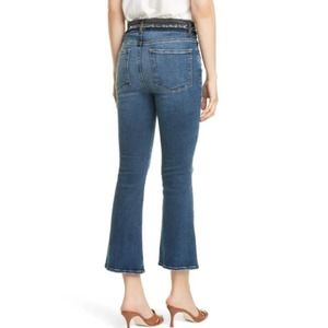 Frame Le Crop Mini Boot Blocked Frayed Waist Jeans
